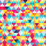Colored triangles. Seamless pattern. Vector eps 10 Stock Photo
