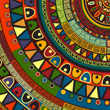 Colored tribal design Stock Photo