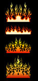 Colored tribal flames. Royalty Free Stock Image