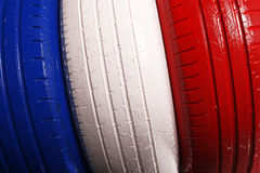Colored truck wheel Royalty Free Stock Images
