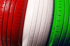 Colored truck wheel Stock Image