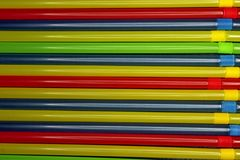 Colored tubules for drinks background royalty free stock photos