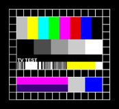 Colored TV signal graphic stock illustration