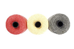 Colored twine rolls Royalty Free Stock Photography