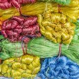 Colored twine Stock Photo