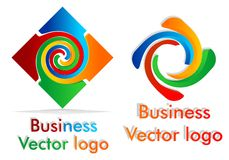 Colored twist logo Royalty Free Stock Photography