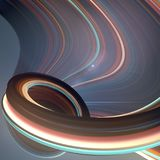 Colored twisted shape. Computer generated abstract geometric 3D render illustration Stock Photography