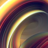 Colored twisted shape. Computer generated abstract geometric 3D render illustration Royalty Free Stock Image