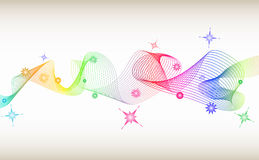 Colored twister. Colored twist oibject on soft background - illustration Royalty Free Stock Photos