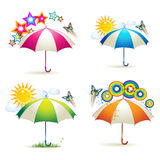 Colored umbrellas Royalty Free Stock Photos