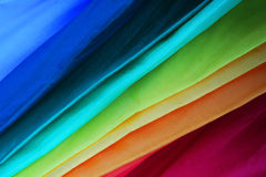 Colored umbrellas. Umbrella with the colours of the rainbow Stock Photos