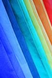 Colored umbrellas. Umbrella with the colours of the rainbow Stock Image