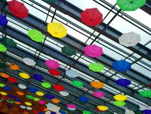 Colored umbrellas abstract Royalty Free Stock Images