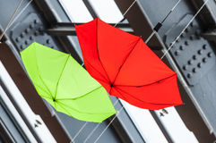 Colored umbrellas abstract Royalty Free Stock Photography