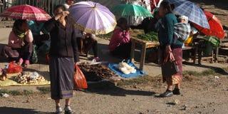Colored umbrellas in Asia. Stock Photos
