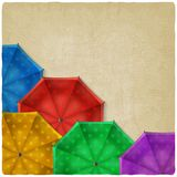 Colored umbrellas background Royalty Free Stock Photography