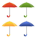 Colored umbrellas isolated on a white background Royalty Free Stock Photos