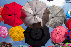 Colored umbrellas Royalty Free Stock Image