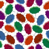 Colored umbrellas. Seamless pattern Royalty Free Stock Image