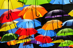 Colored umbrellas Stock Photos