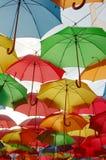 Colored umbrellas Stock Photography
