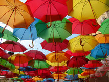 Colored umbrellas Royalty Free Stock Photography