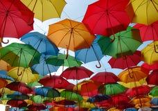 Colored umbrellas Stock Photo