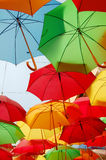 Colored umbrellas Stock Photography
