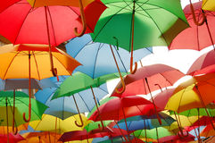 Colored umbrellas Stock Photo