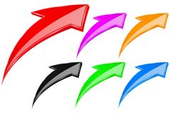 Colored UP arrows. Vector 3d illustration isolated on white background royalty free illustration