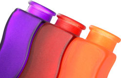 Colored Vases. Top Half Of Three Colored Vases Stock Image