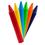 Colored vax pencil. Isolated on white background Stock Photos