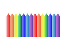 Colored vax pencil Royalty Free Stock Image