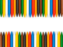 Colored vax pencils Royalty Free Stock Photo