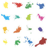 Colored vector blots. Seth blots on a white background. Design element Royalty Free Stock Photos