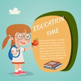 Colored Vector Education Poster Royalty Free Stock Image