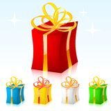 Colored vector gift. Editable vector Royalty Free Stock Photos