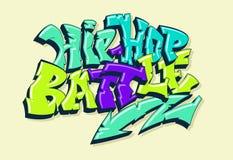 Hip-hop battle illustration in graffiti style web royalty free illustration
