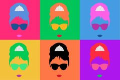 Colored Vector Illustration Pop Art Style Andy Warhol Stock Photo
