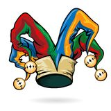 Colored vector jester hat Royalty Free Stock Images