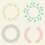 Colored Vector Laurel Wreaths. Vector Laurel Wreaths. Collection of Cute Wreath Vector Frames. Perfect For Wedding Frames stock illustration