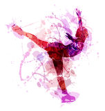 Colored vector silhouette figure skaters. Colored silhouette figure skaters. Vector illustration Stock Photography