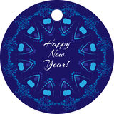 Colored Vector tag on the gift in blue Royalty Free Stock Image