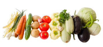 Colored vegetables composition isolated on white. Background stock images