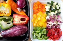 Colored vegetables. Stock Photography