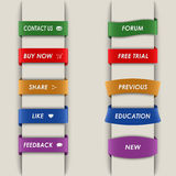 Colored vertical web bookmarks background. Eps 10 Stock Photo