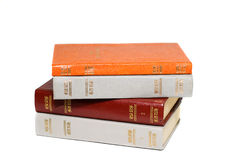 Colored vintage books Royalty Free Stock Photos