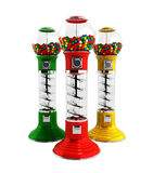 Colored  vintage gumball dispenser machine made of glass and ref Royalty Free Stock Photography