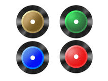 Colored vinyl disc cd Royalty Free Stock Image
