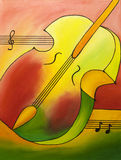 Colored Violin Royalty Free Stock Photo